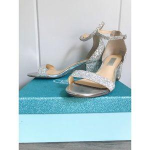 Betsey Johnson Jayce Sparkle Block Heels